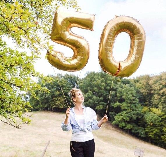 2 pçs 32 ou 40 polegada feliz 50 balões da folha de aniversário rosa azul ouro número 50th anos de idade decorações de festa homem menino menina suprimentos