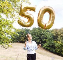 2pcs 32 Or 40 inch Happy 50 Birthday Foil Balloons pink blue gold number 50th Years Old Party Decorations Man Boy Girl Supplies
