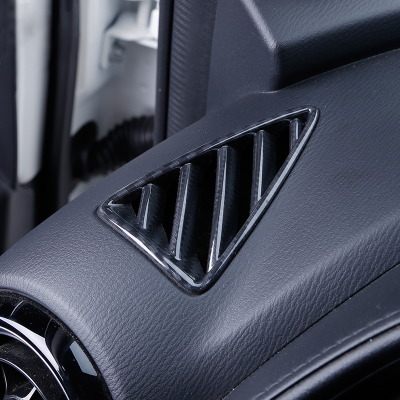For <font><b>Mazda</b></font> CX-3 <font><b>CX3</b></font> <font><b>2016</b></font> 2017 2018 ABS Air Conditioning AC Vents Frame Cover Trim Dashboard Outlet Net 2 Pcs image