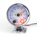 3.75 Inch Chrome shell WHITE LED Backlight  And Blue digital Tachometer gauge RPM  Racing Refit  auto gauger   Ffree shipping
