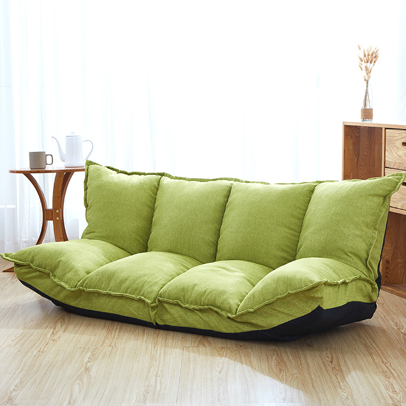 15%,Linen Fabric Upholstery Adjustable FloorSofa Bed Lounge Sofa Bed Floor Lazy Man Couch Living Room Furniture Video GamingSofa