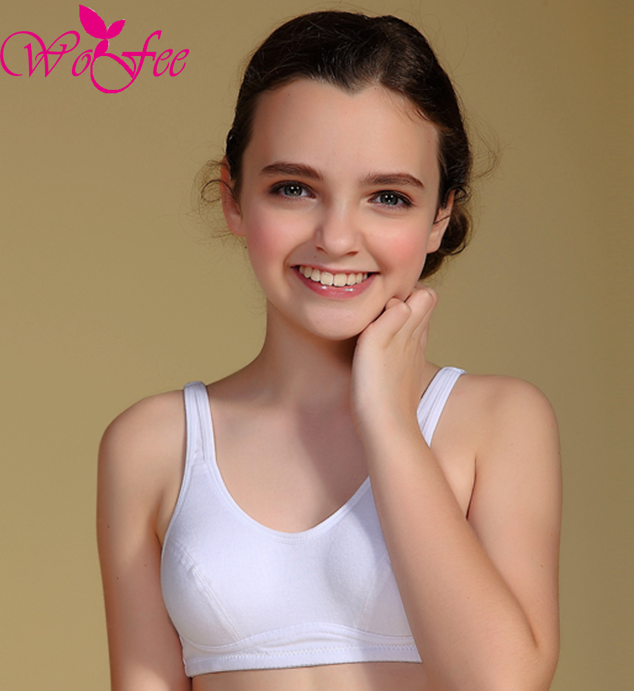 38732feb8e063 Tsfit Land Puberty Growing Young Girls Soft Touch Cotton Training Bra With  Two Hooks B1014-in Bras from Mother   Kids on Aliexpress.com