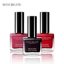 цена на MayCreate Brand 12ml Nail Polish Sexy Red Blue Color Flavorless Nail Gel Polish Lasting Gel Nail Art Health For Women's Beauty
