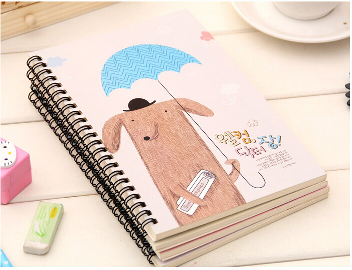 romdom color 3 series fresh and lovely notebook 42 pages cute note book for girls 21145cm a5 copybook for daily memous in notebooks from office school