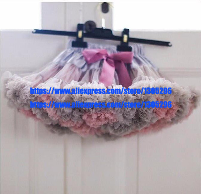 2015 newest baby girl kids rainbow tutu skirts hot selling pettiskirt tutu freeshipping for custome party wedding