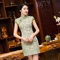 TIC-TEC chino tradicional vestido de las mujeres de la vendimia del cheongsam qipao corto vestidos orientales ropa elegante ropa de noche P2944