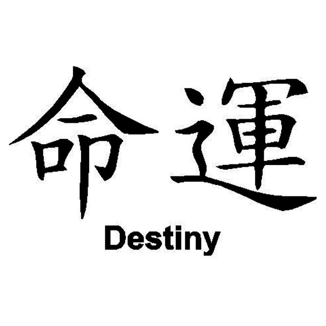 1593 Cm Chinese Tekens Destiny Combinatievormen Creatieve Auto