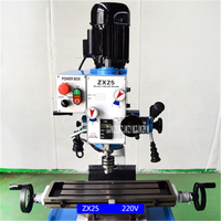 ZX25 High Precision Drilling Milling Machine Household Desktop Drilling Metal Mini Milling Machine 110V/220V/380V 750W 1400r/min