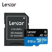 Lexar a2 512g tf cartão class10 UHS-I u3 micro cartão sd a1 32gb 64gb 128gb 256gb cartões de memória microsd para a câmera da tabuleta do smartphone