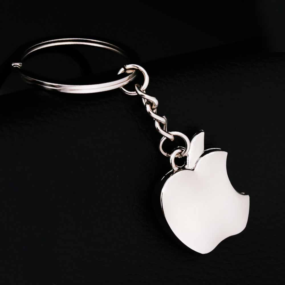 KISSWIFE New Arrival Novelty Souvenir Metal Apple Key Chain Creative Gifts Apple Keychain Key Ring Trinket