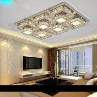 Современные Простые гостиная спальня площади светодиодный потолочный светильник проволока из нержавеющей стали вырезать привело кристал
