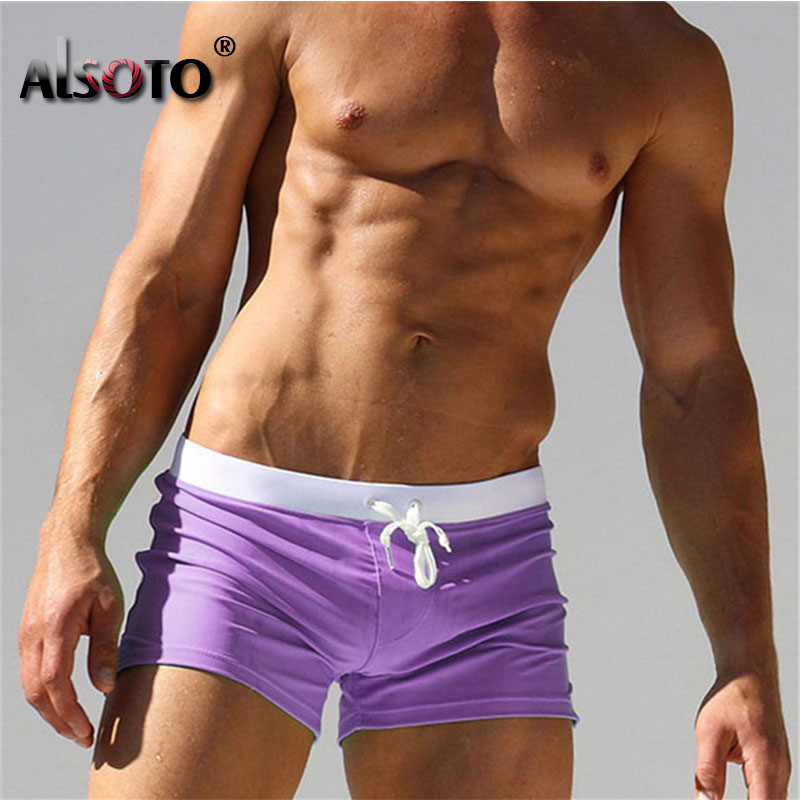 2019 Summer Beach Shorts Sexy Men Swimsuit Maillot De Bain Boy Suits Swimming Boxer Bermuda Swimwear Trunks Mayo Sungas