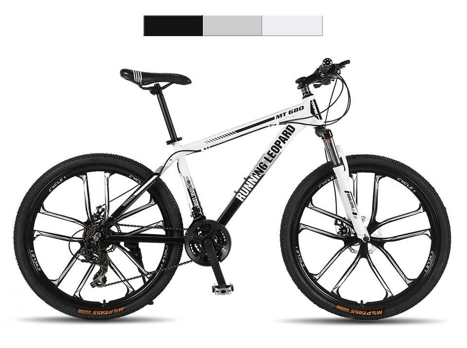 HTB1Hk8rbCzqK1RjSZFpq6ykSXXah Running Leopard mountain bike 26 inch 21/24 speed bikes aluminum alloy frame mountain bike Mechanical double disc brake bicycle