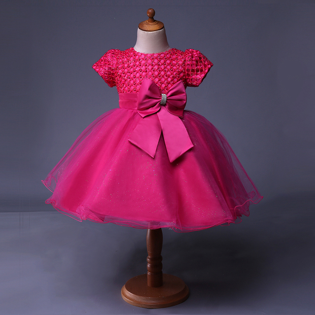 e1c6da8f83dc Cutestyles Buy Fower Girl Dresses Hot Pink Girls Holiday Dresses For Teens  And Baby GD50514-7
