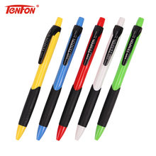 TENFON 1PC Mix Colors Ballpoint Pen for Office School 0.7mm Multicolor Pressing Pen Escolar Material B-527D(China)