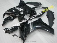 Hot Sales,For Honda CBR600F CBR 600 F 2011 2013 CBR 600F 11 12 13 Black ABS Motorcycle Fairing set (Injection molding)