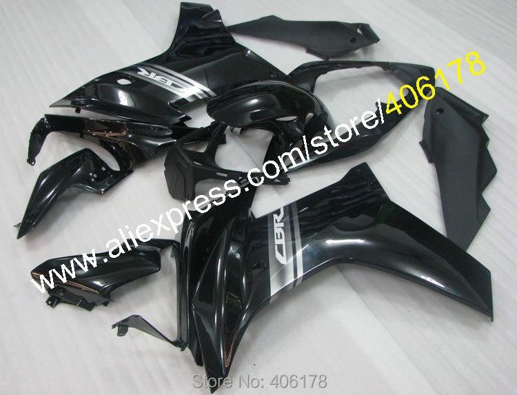 Offres spéciales, pour Honda CBR600F CBR 600 F 2011-2013 CBR 600F 11 12 13 noir ABS moto carénage ensemble (moulage par Injection)