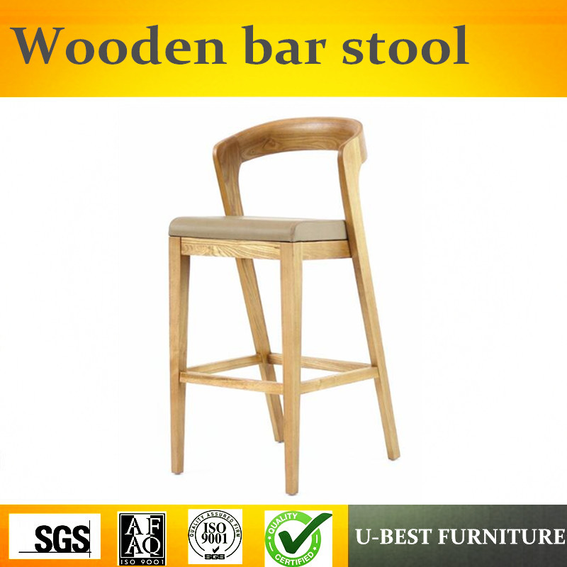 U-BEST Vintage Europe Wood Caffe Bar Chair Fabric Sillas Para Bar Stool