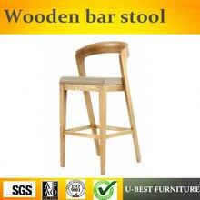 Taburete de madera Vintage estilo europeo Para Bar o cafetería U-BEST