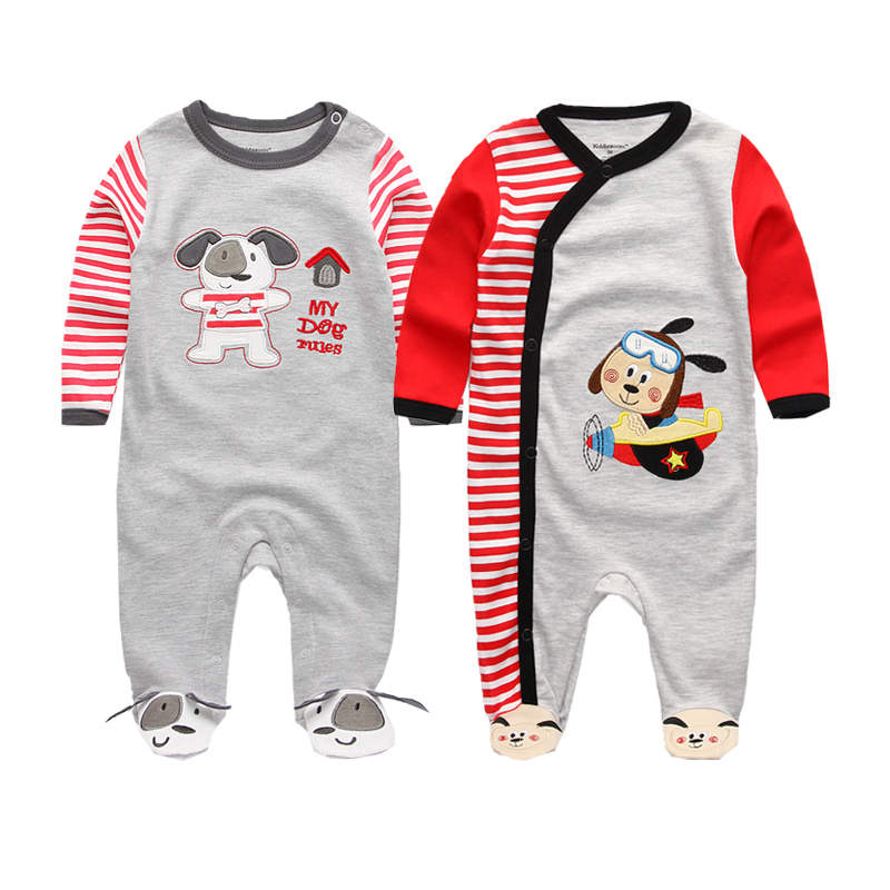 2018 Spring&Autumn 2 Pcs/lot Baby Clothing Foot Cover Baby Girls Pajamas Romper Newborn Sleepwear Body suits 0-12 Months