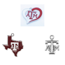 91f3a8b28 3 Styles Alloy Enamel College Team Logo Charm Texas A&M Aggies Pendant Charms  Fit All Diy