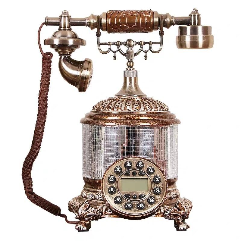 Antique téléphone européen antique téléphone haut de gamme ménage machine d'atterrissage décorations de ménage