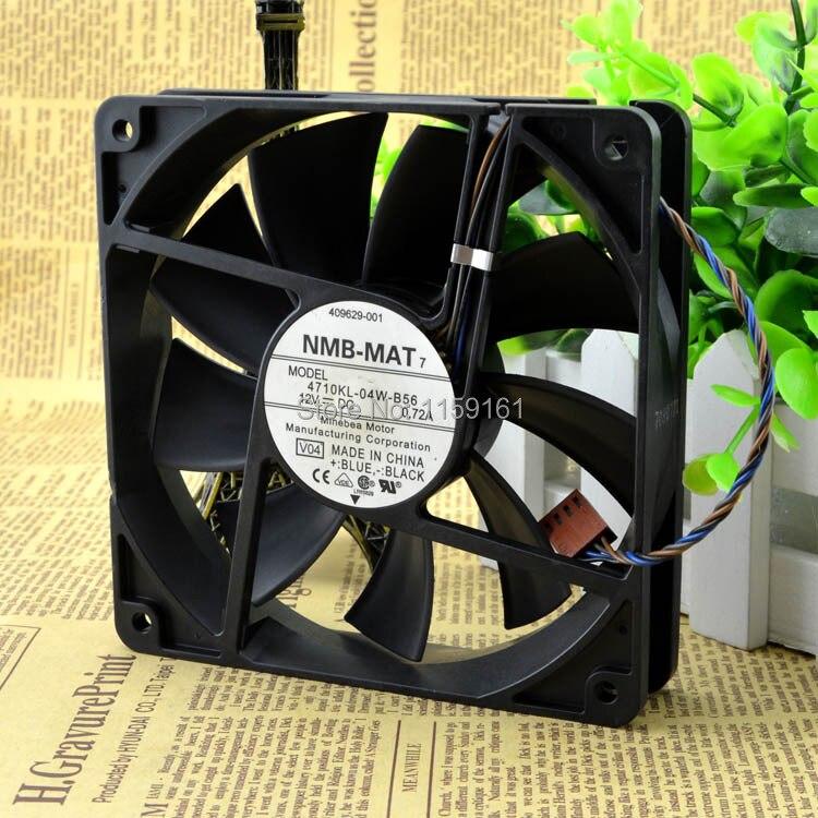 New original NMB 12CM12025 12V0.72A 4710KL-04W-B56 4-pin PWM cooling fan