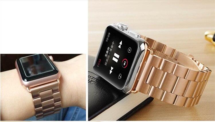 rosa ouro aço inoxidável pulseira de metal
