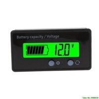 Verificador ácido GY 6S da tensão do voltímetro do indicador da capacidade da bateria de lítio do chumbo 8 70 v lcd Verificadores de bateria     -