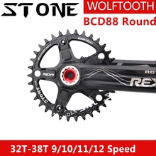 Stone Chainring 88 BCD for Shimano for M985 M985 Round 32/34/36/38T  Wolf Tooth  MTB Wide   Cycling Bicycle Chainwheel цена