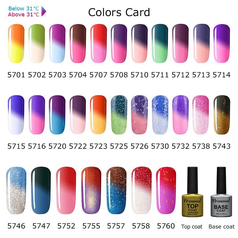 Vrenmol 1pcs Chameleon Temperature Color Changing Nail Gel Polish ...