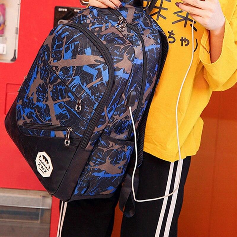NIBESSER печати рюкзак 3 шт. комплект большой Ёмкость холст Backbag школьный рюкзак для девочек дорожные сумки Повседневное рюкзак