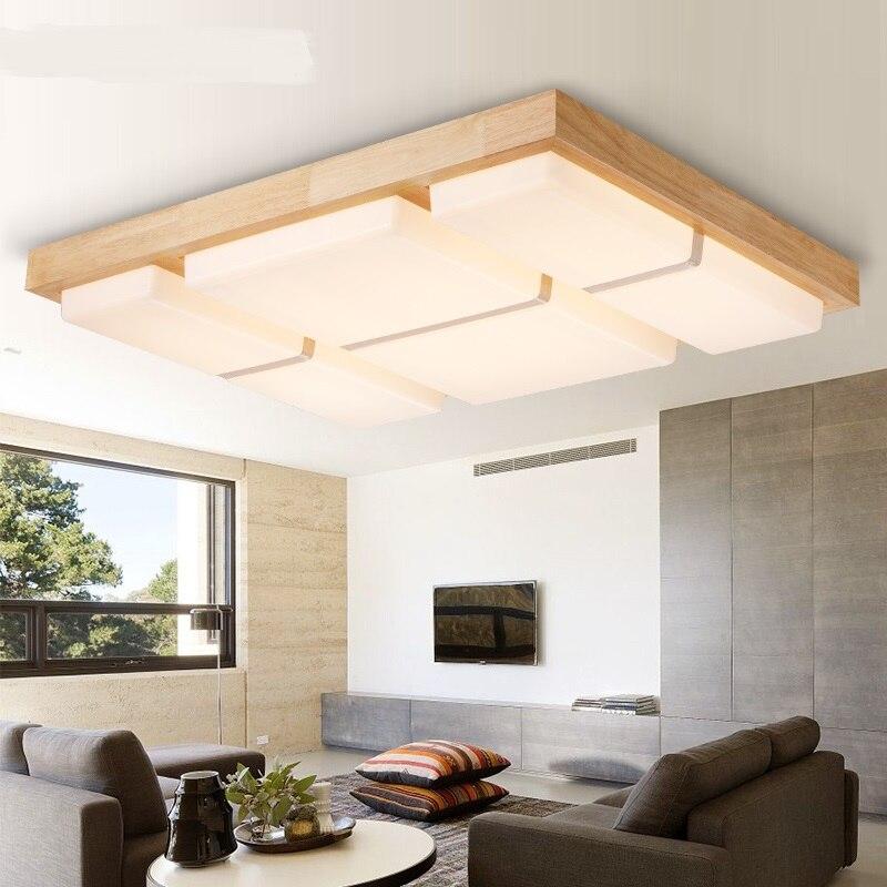 LED Nordic houten plafondlamp decoratie woonkamer eetzaal lampen ...