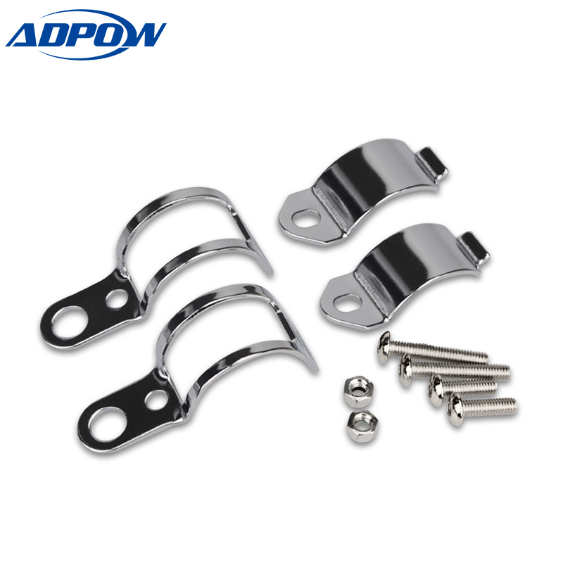1 Pair Motorcycle Turn Signal Relocation Fork Clamps Mount Light Holder Lamp Mount Bracket For 30MM-45MM Front Fork