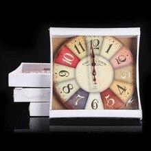 European Retro Large Numerals Design Imitation Wood Wall Clock