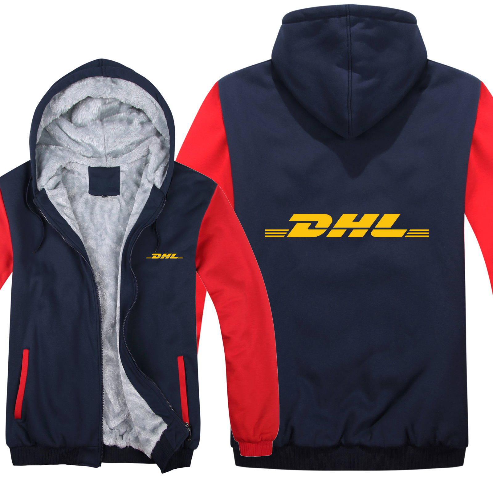 Winter DHL Hoodies Men Fashion Coat Pullover Wool Liner Jacket DHL Sweatshirts Hoody HS-058