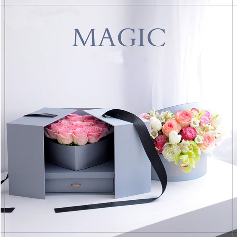 13cd1f463 1 Set Magic Cube Gift Box With Drawer And Heart Box Surprise Gift Box Send  With Gift Package Bag Creative Flower Packing Box