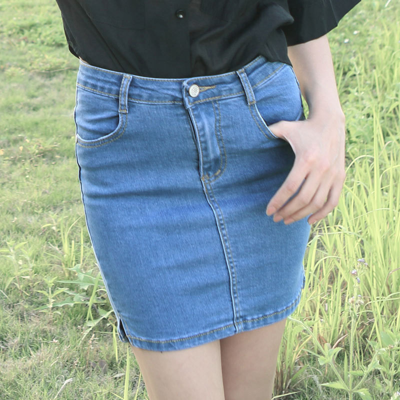Aliexpress.com : Buy Vintage Women Denim Pencil Tight Skirts Mini ...