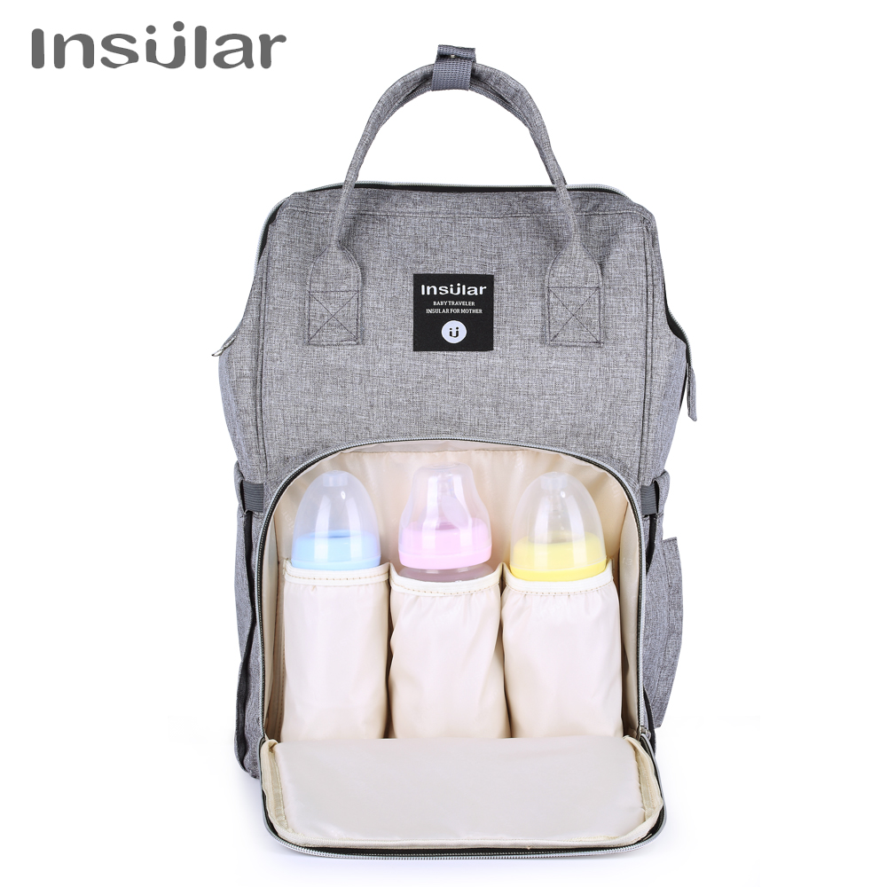 Insular Mummy Maternity Baby Nappy Stroller Bag Large Capacity Diaper Travel Backpack Nursing Bag Baby Care Women's Fashion Bag