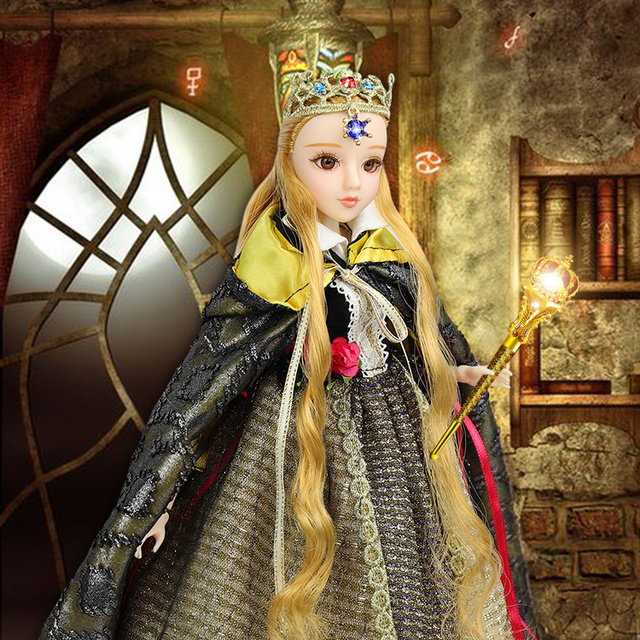 TAROT CARD Major Arcana The emperor joint body doll white skin with crown golden blonde hair 34cm east barbi 1