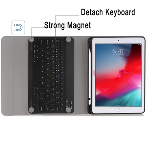 Image 4 - Spanish Keyboard Case For Apple iPad Air 2019 10.5 3 3rd Generation A2152 A2153 A2154 A2123 Pro 10.5 A1701 A1709 Pencil Holder