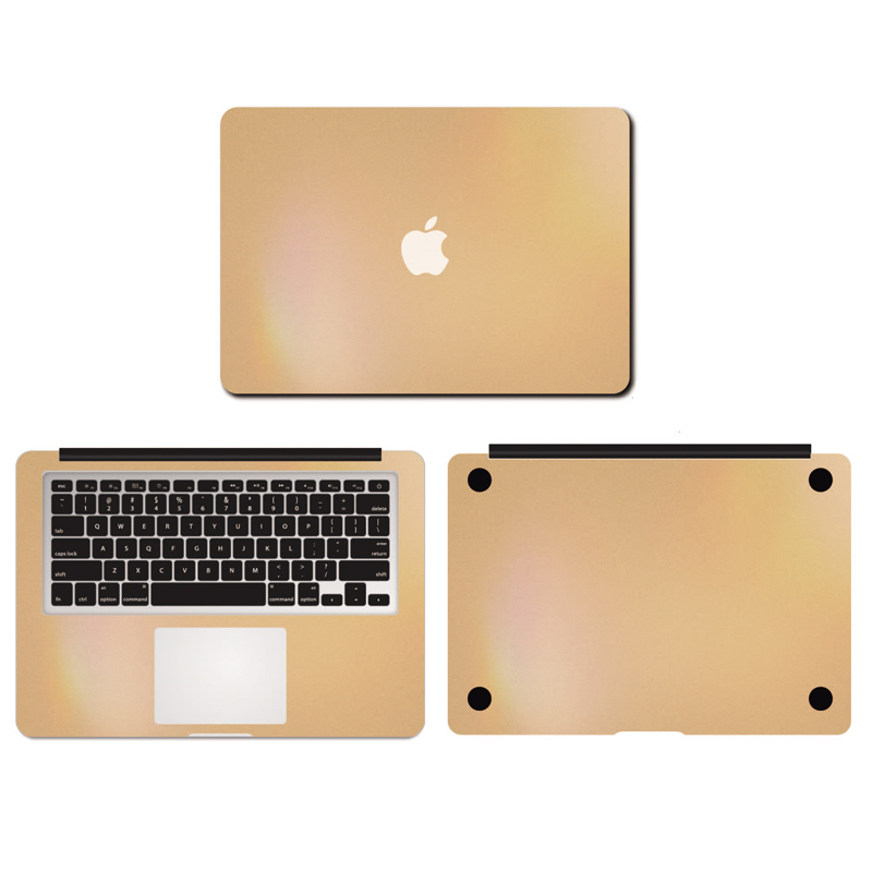Champagne Gold Color Vinyl Full Body Decal Laptop Stickers