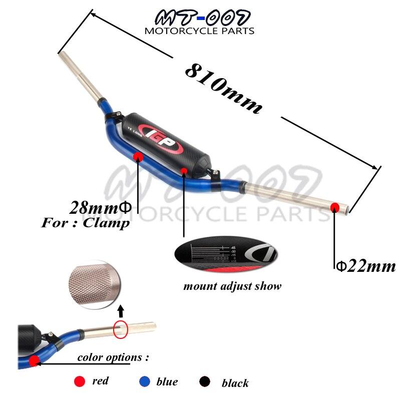 Moto 28mm nouvelle Poignée Bar 810mm 1-1/8