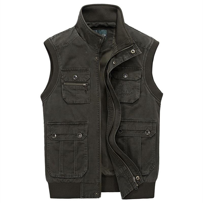 Xhinse 100% pambuk te reja 2016 Vjeshte pranverë për burra jastëk xhaketë xhakete ushtarake rastësore Veshjet e markës Madhësia e madhe L-4XL A2996