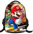 2015 Venta Caliente Impreso fresco Bolsas de Los Niños de Dibujos Animados en 3D de Hombro Super Mario Bros niños y niños de La Escuela Mochila Mochilas