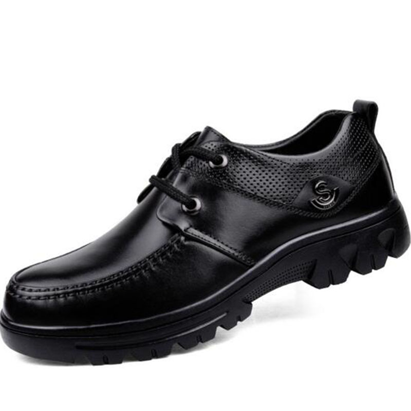 Spring Business Men Genuine Leather Dress Shoes,Round Toe Platform Flats Non-slip Breathable Deodorization Shoes Size 38-49Spring Business Men Genuine Leather Dress Shoes,Round Toe Platform Flats Non-slip Breathable Deodorization Shoes Size 38-49