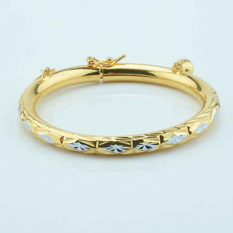 b762e4116ac18 US $3.99 20% OFF|1pcs 5mm Kids Darling Yellow Gold Color Bangles Baby  Jewelry For Boys gold Bracelets-in Bangles from Jewelry & Accessories on ...
