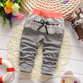 2016 New Spring Kids Girls Boys Casual Full Length Baby Infant Clothing Stripe Plaid Bow Printing Long Pants
