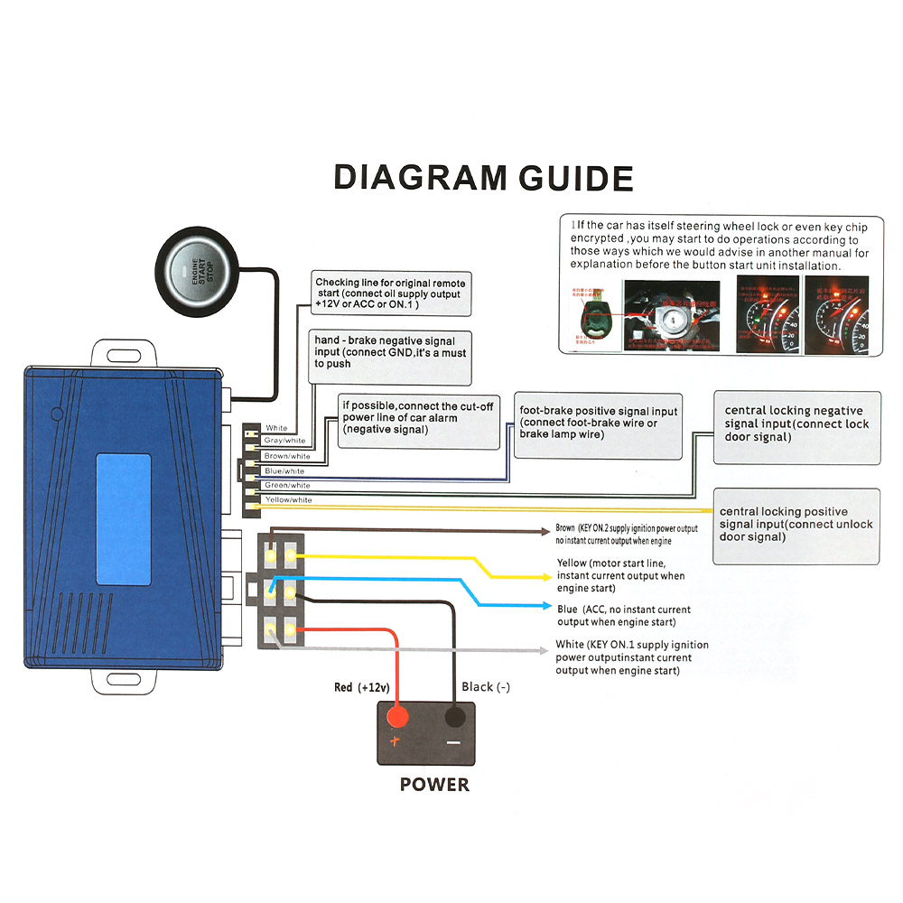 small resolution of auto car alarm system engine starline push start stop button rh aliexpress com remote starter wiring