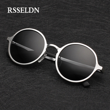 RSSELDN High Quality Aluminum Magnesium Sunglasses Men Round Driving Polarized Sun Glasses Male Eyewear Accessories Oculos